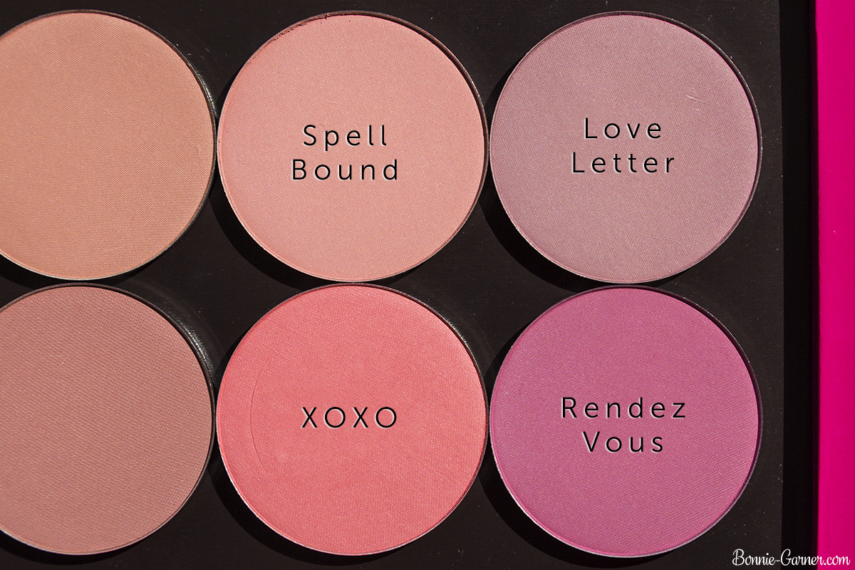 Makeup Geek blushes: Spell Bound, Love Letter, Rendez Vous, XOXO