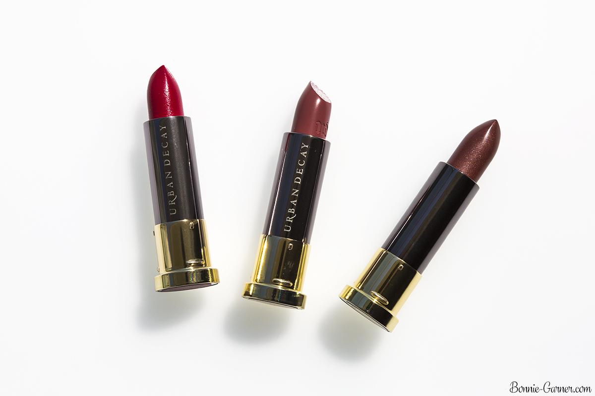 Urban Decay Vice lipsticks Amulet, Ravenswood, Psycho