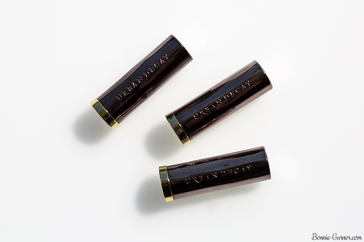 Urban Decay Vice lipsticks Sheer Liar, Backtalk, Tryst