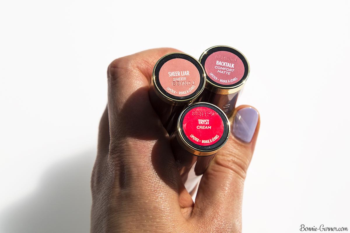 Urban Decay Vice lipsticks Sheer Liar, Backtalk, Tryst