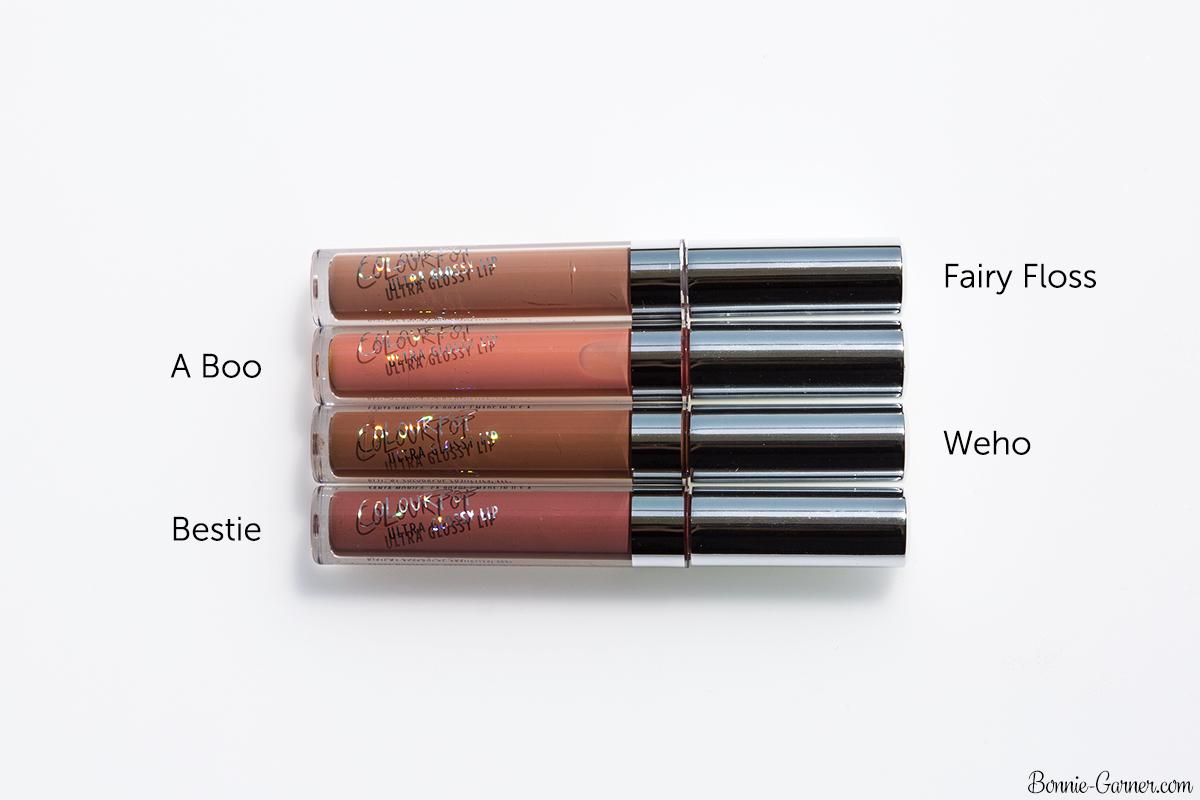 ColourPop Ultra Glossy Lip Fairy Floss, A Boo, Weho, Bestie
