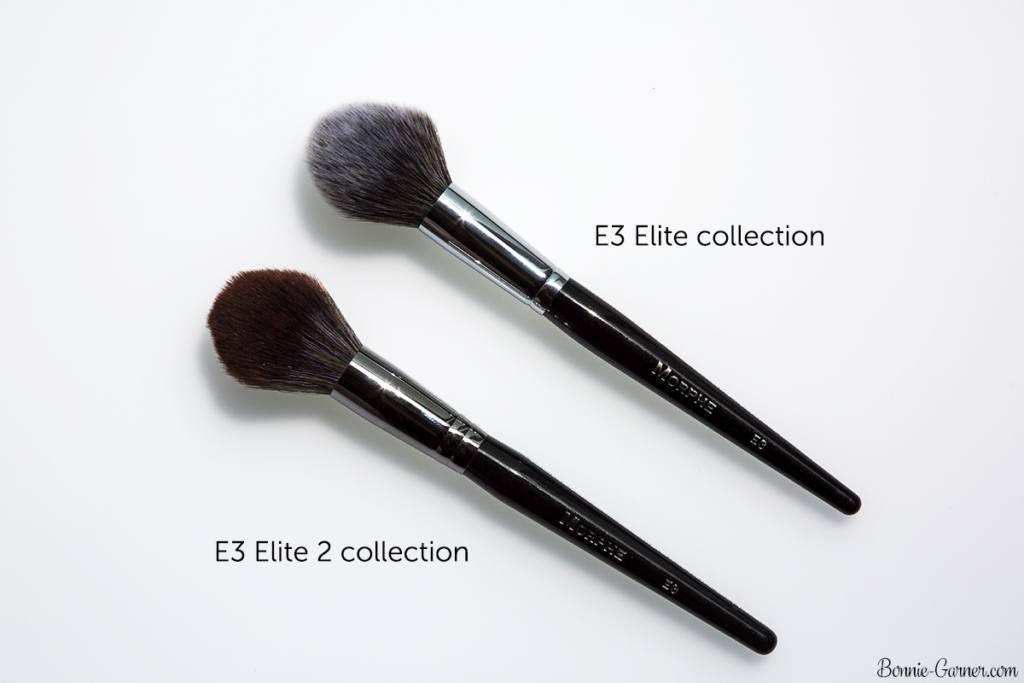 Morphe Brushes Elite and Elite 2 E3 comparison