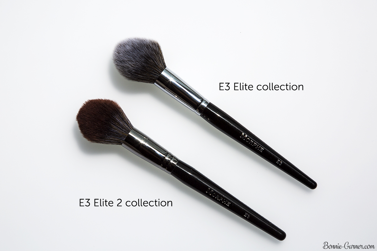 morphe blush brush. finally, here are some photos to compare the shapes between brushes from former morphe elite collection vs new 2 collection: blush brush b