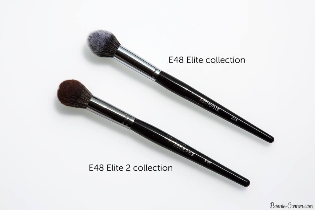 Morphe Brushes Elite and Elite 2 E48 comparison