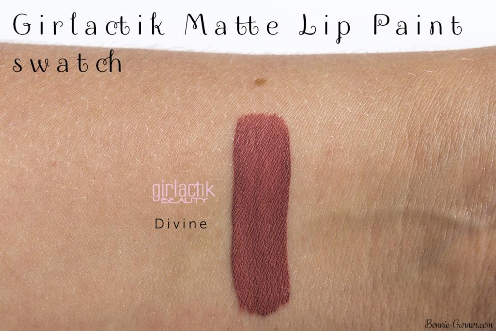 Girlactik Beauty Matte Lip Paint Divine swatch