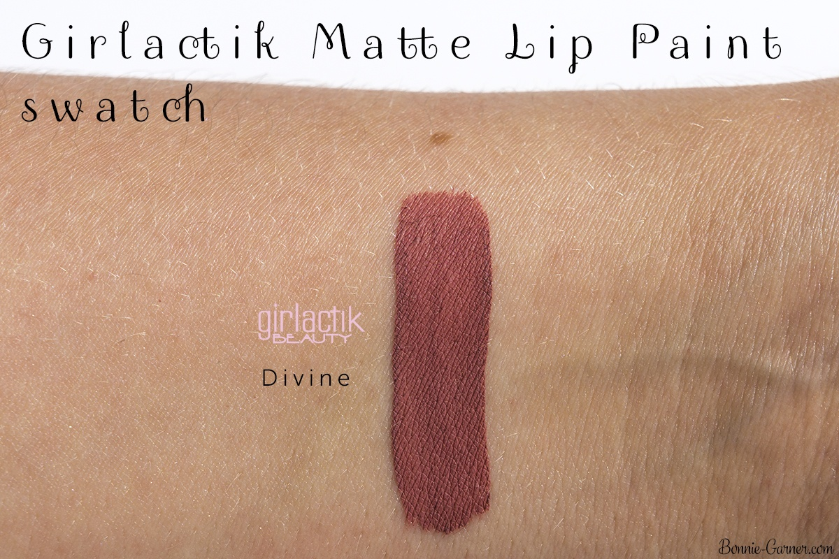 Girlactik Beauty Matte Lip Paint Divine swatch