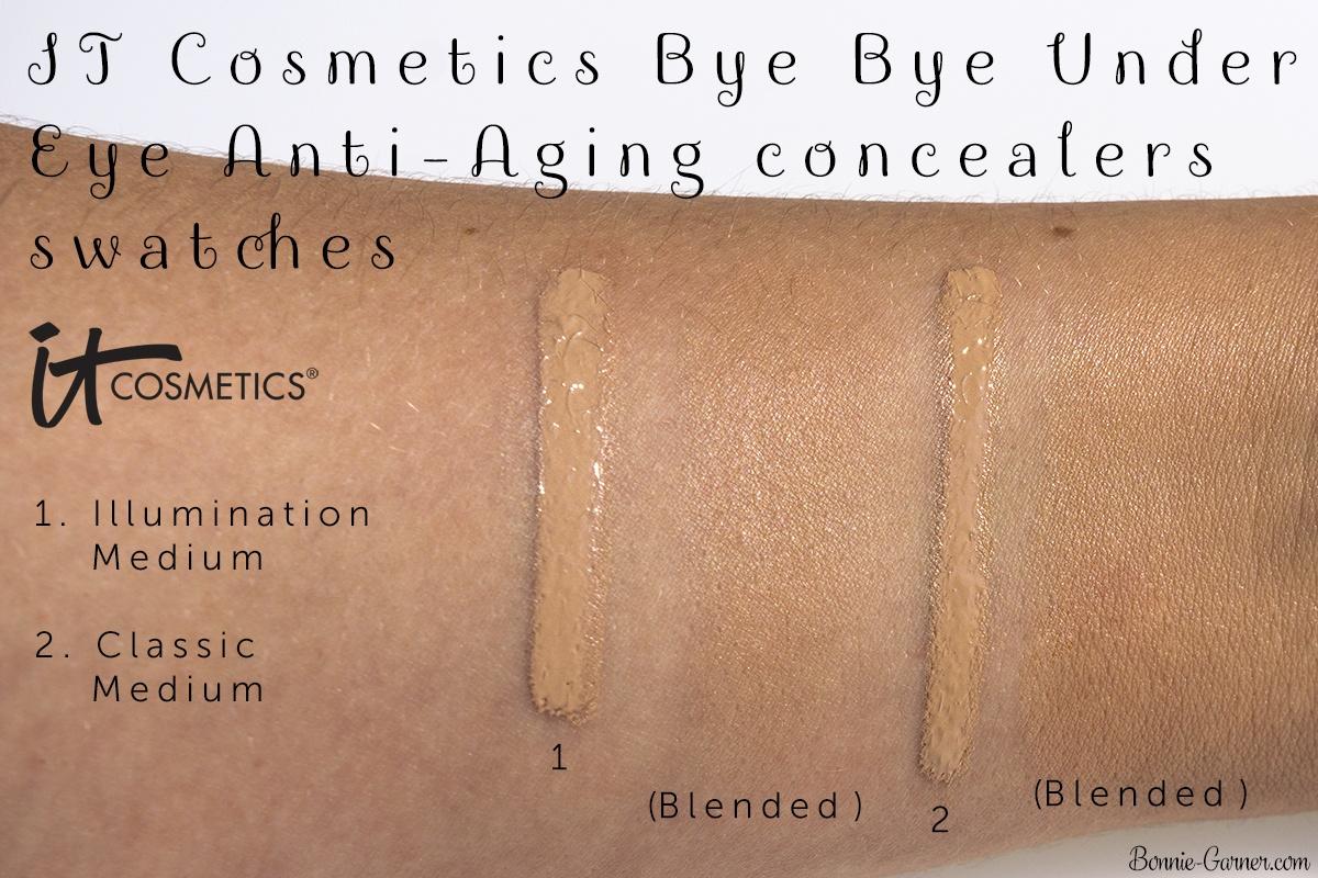 IT Cosmetics Bye Bye Under Eye Anti-Aging Concealers swatches
