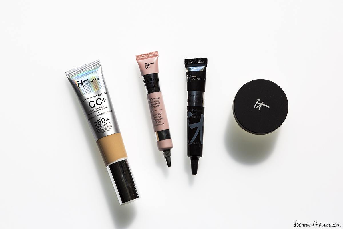 IT Cosmetics Your Skin But Better CC Cream SPF50, Bye Bye Under Eye Anti-Aging Concealers, Bye Bye Pores Loose Powder
