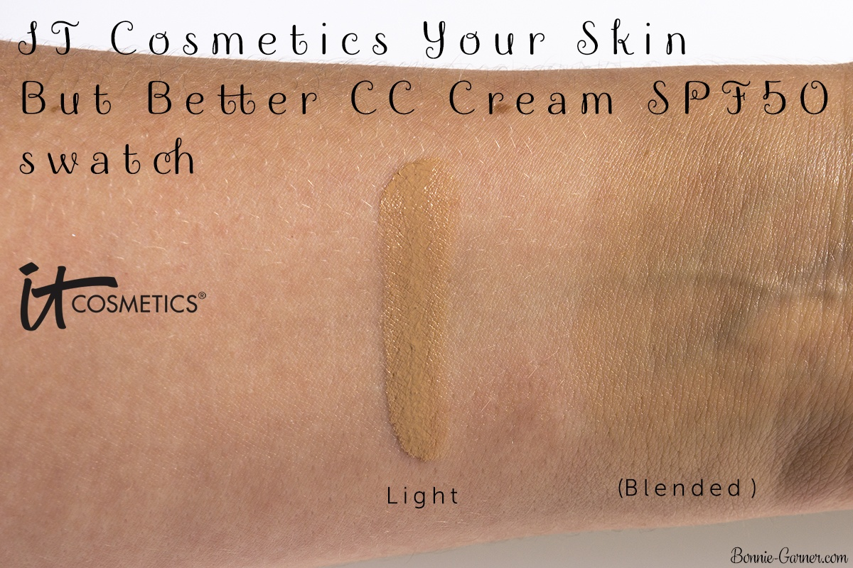 IT Cosmetics Your Skin But Better CC Cream SPF50 swatch