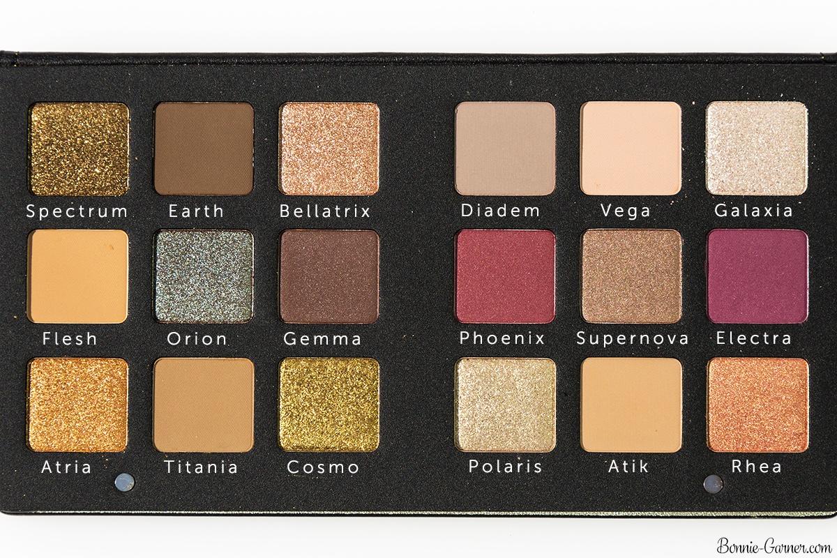 Natasha Denona Star Palette eyeshadows names