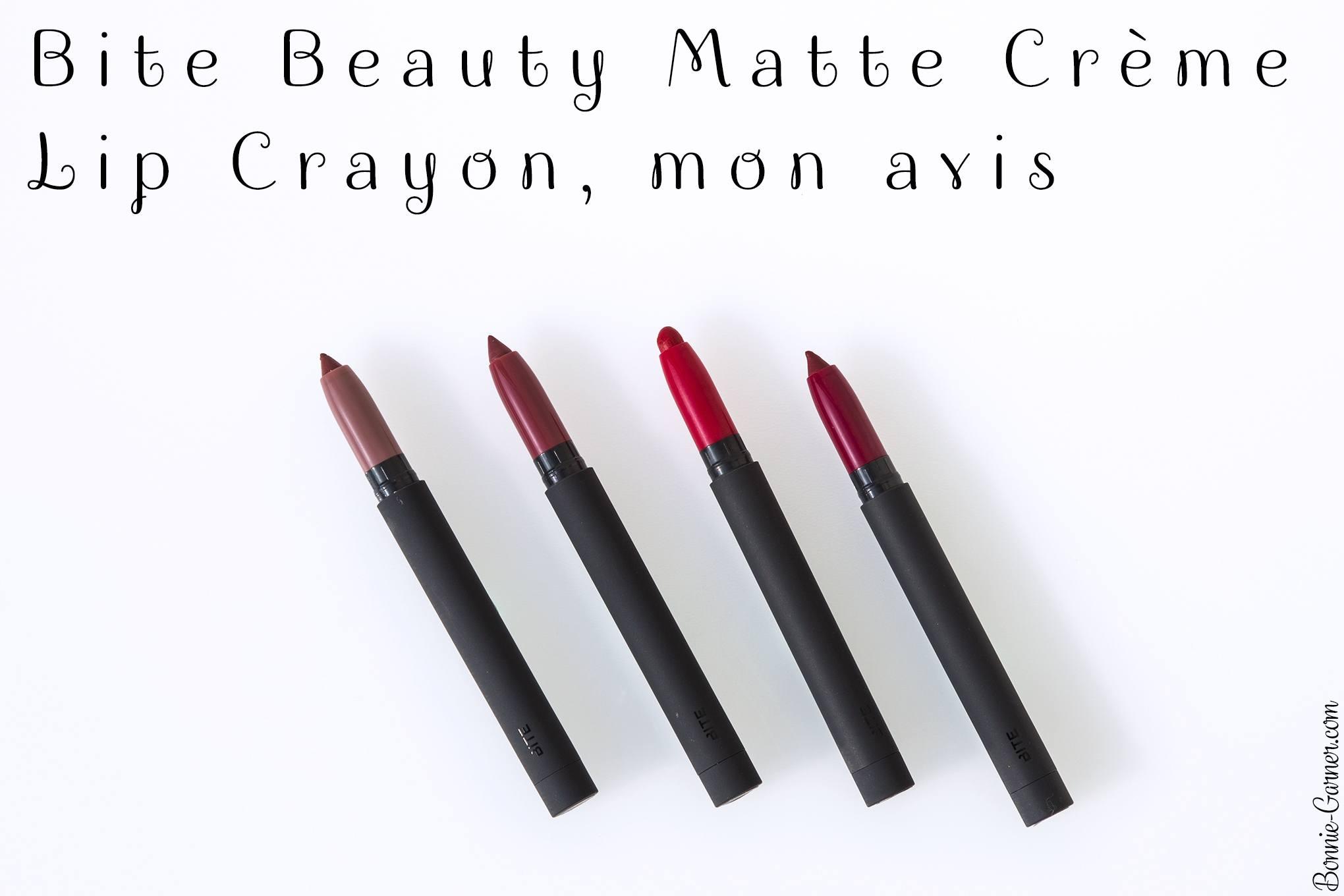 Bite Beauty Matte Crème Lip Crayon, mon avis