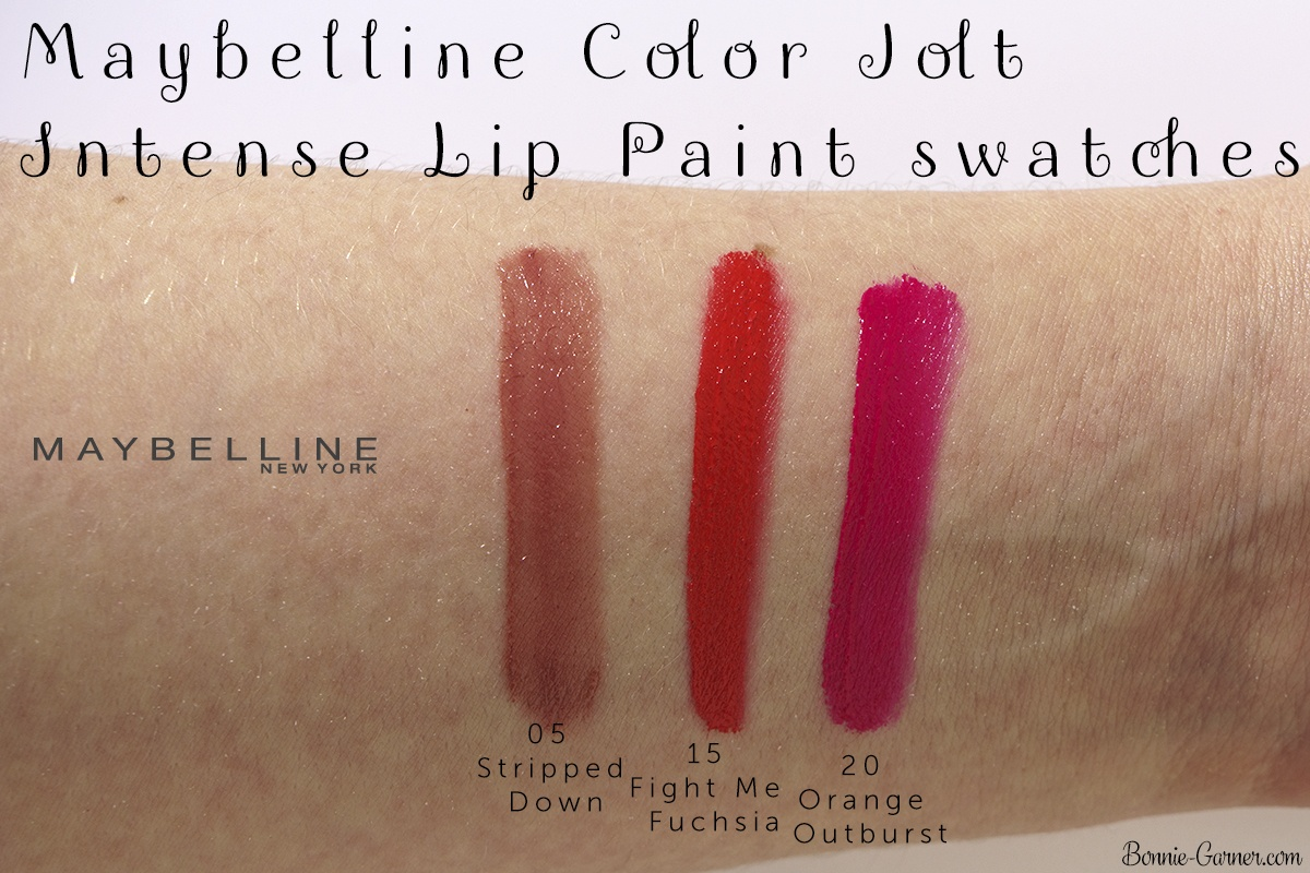 Maybelline Color Jolt Intense Lip Paint 05, 15, 20 swatches