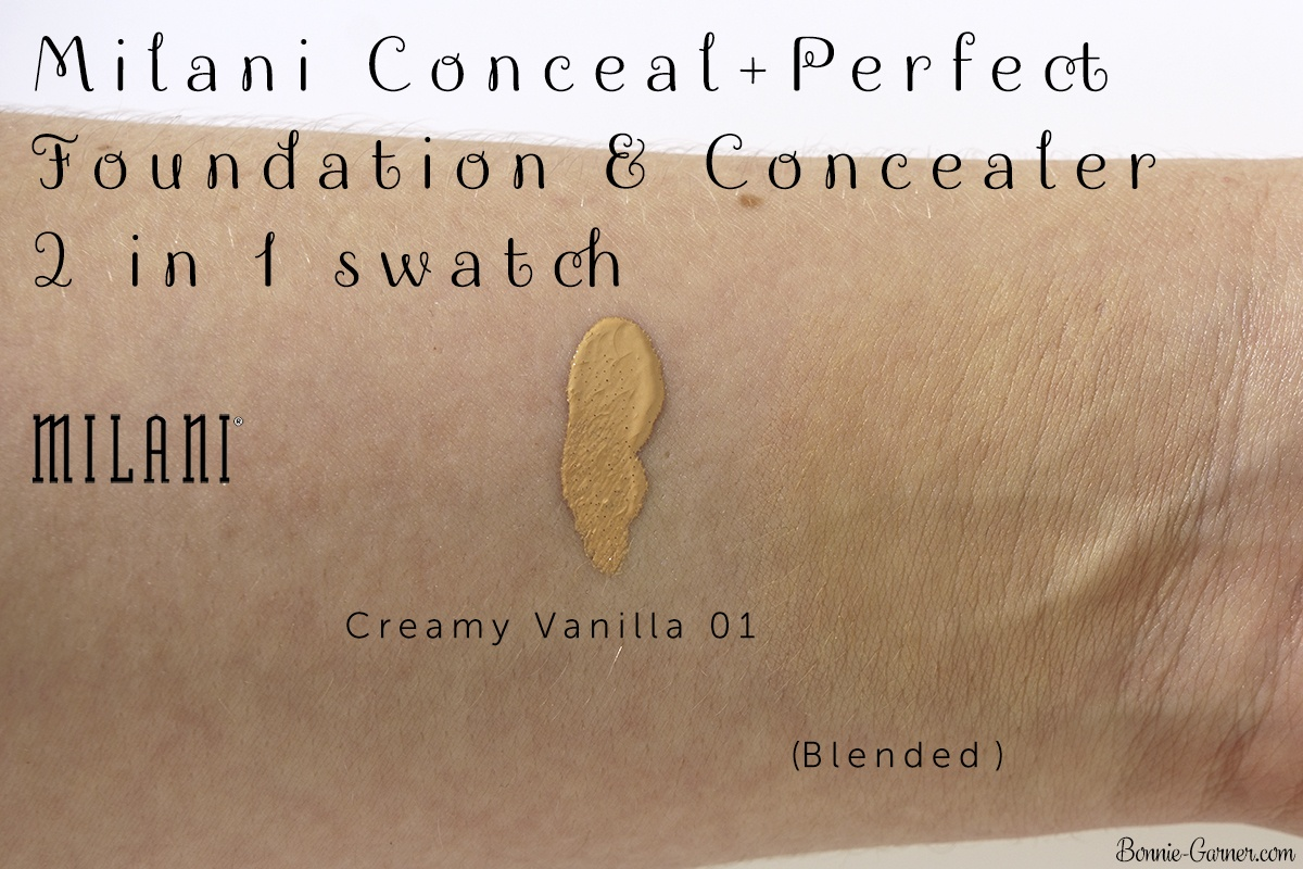 Milani Conceal + Perfect 2-in-1 Foundation + Concealer 01 Creamy Vanilla swatch