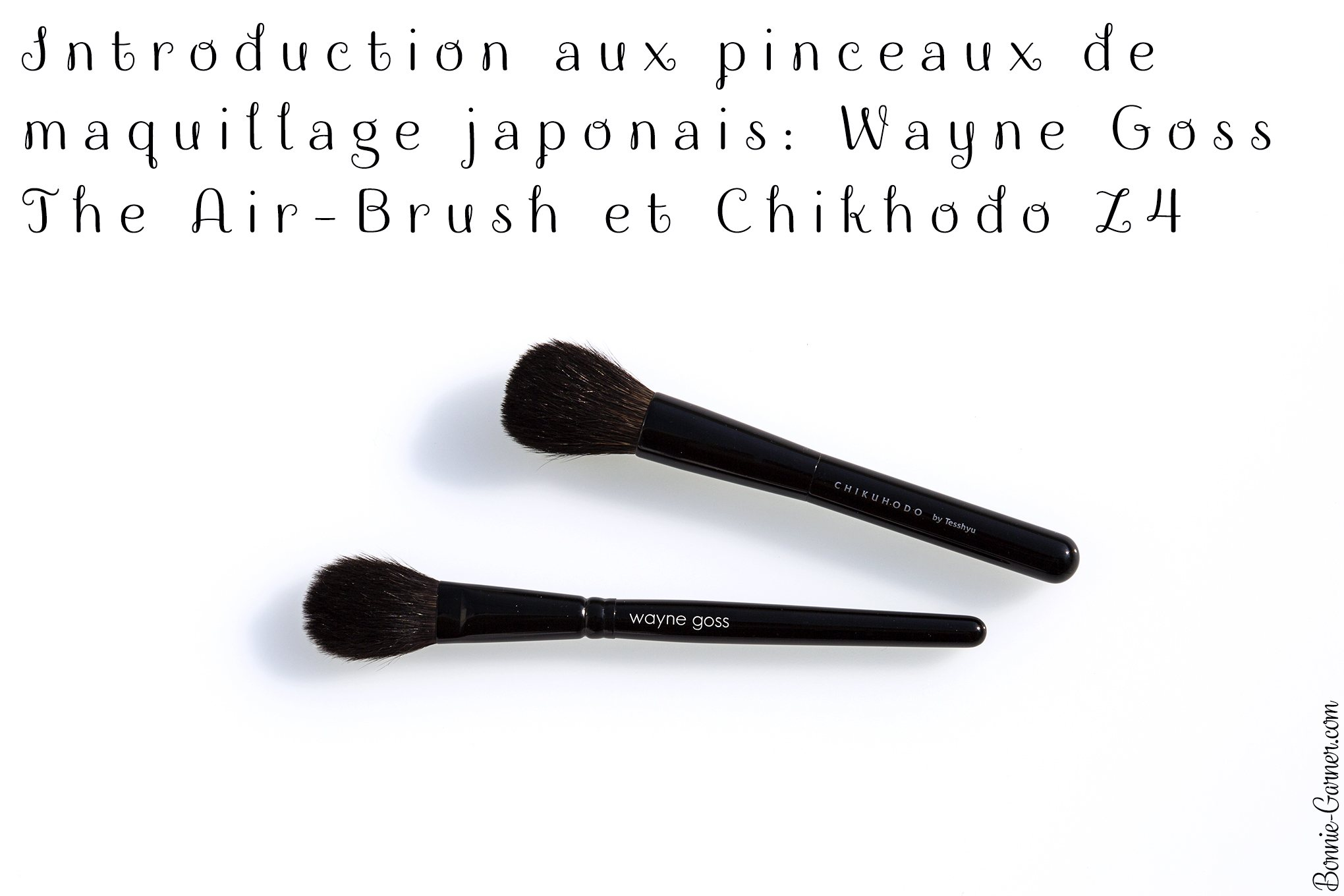Introduction aux pinceaux de maquillage japonais: Wayne Goss The Air-Brush et Chikuhodo Z4