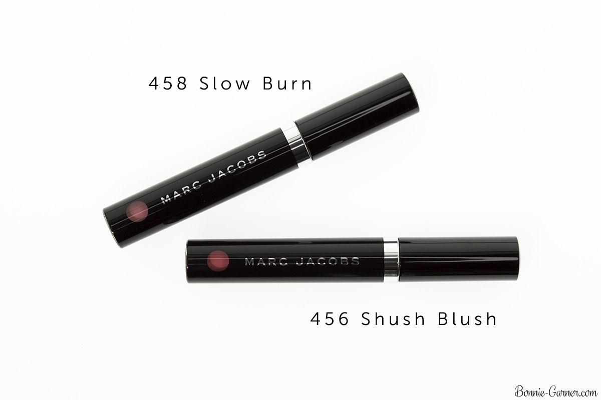 Marc Jacobs Le Marc Liquid Lip Crème Slow Burn, Shush Blush