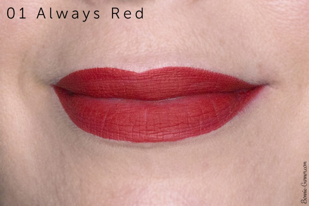 Sephora Cream Lip Stain lipsticks: 01 Always Red