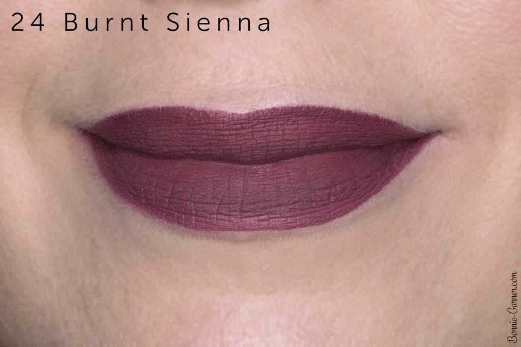 Sephora Cream Lip Stain lipsticks: 24 Burnt Sienna