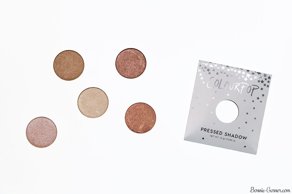 ColourPop Pressed Powder eyeshadows: Liar Liar, High Strung, Come And Get It, You Know The Drill, Let Me Explain