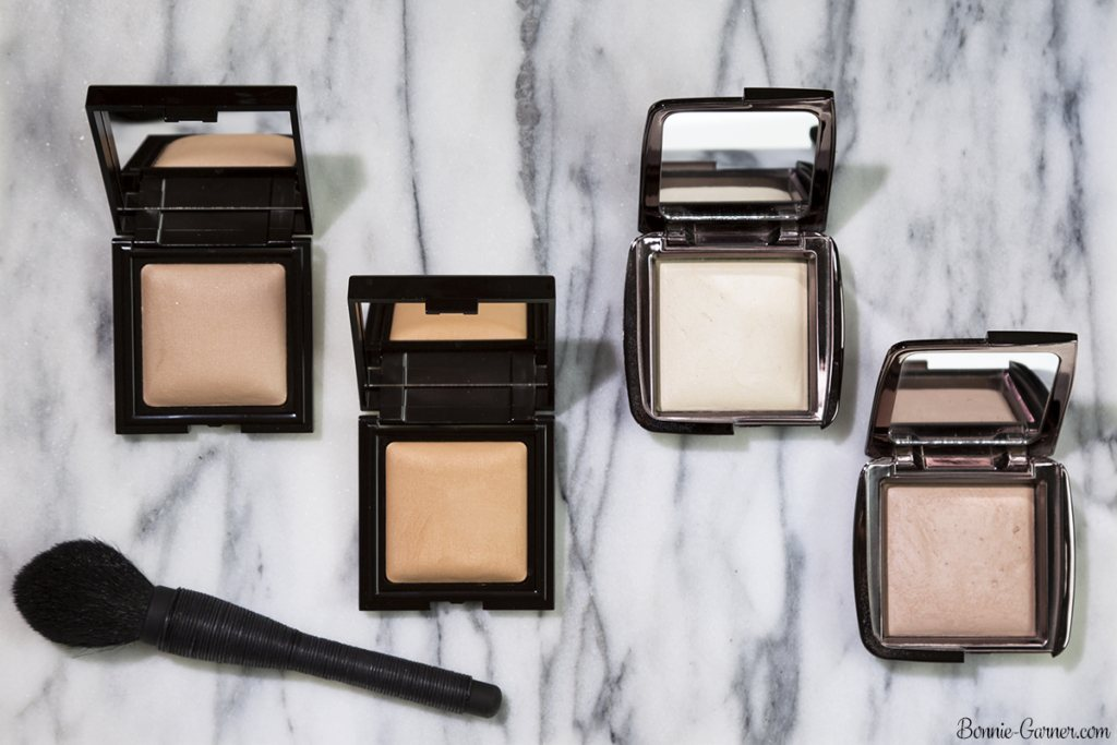 Laura Mercier Candleglow Sheer Perfecting Powder: 01 Fair, 02 Light; Hourglass Ambient Lighting Powder: Diffused Light, Dim Light