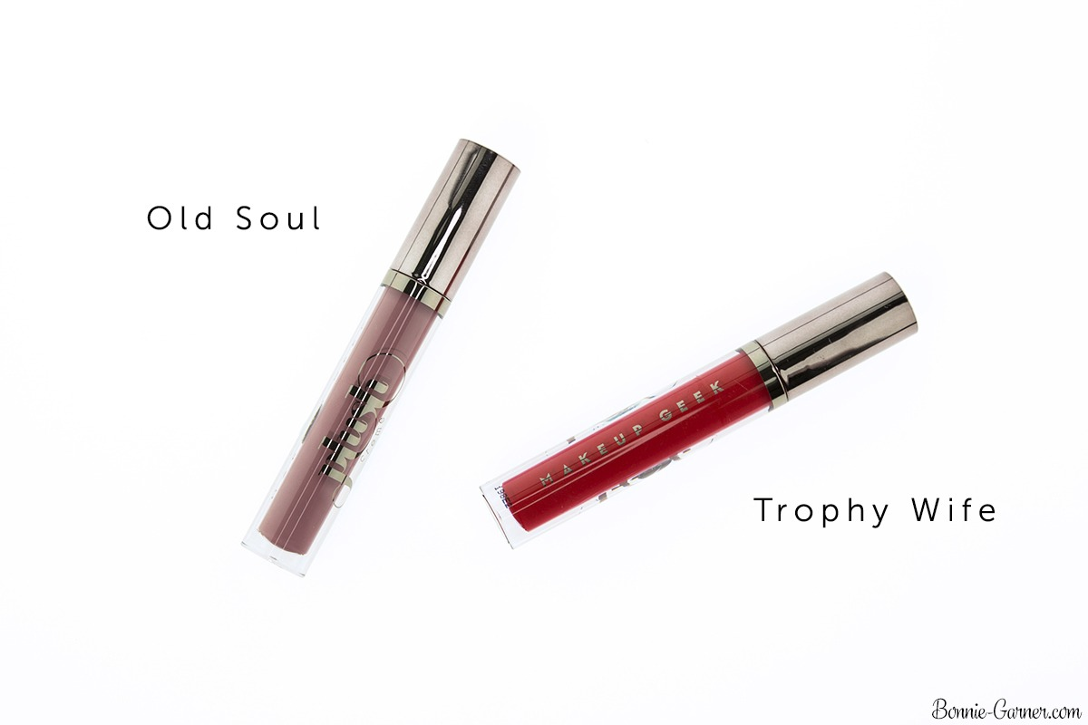 Makeup Geek Plush Creme liquid lipsticks: Old Soul, Trophy Wife