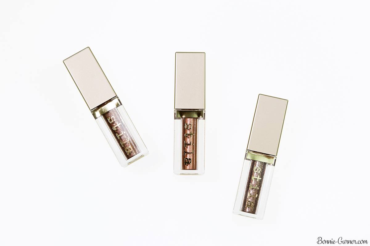 Stila Magnificent Metals Glitter & Glow Liquid Eye Shadow: Rose Gold Retro, Bronzed Bell, Smoldering Satin