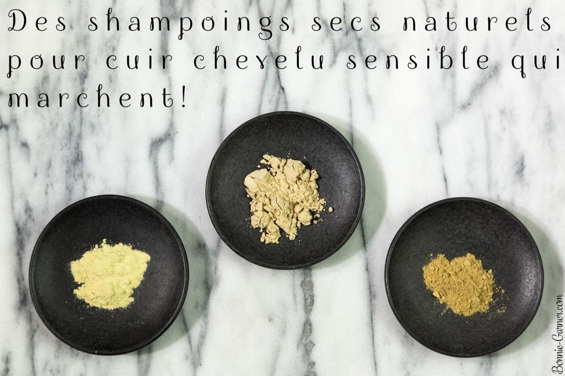 Des shampoings secs naturels pour cuir chevelu sensible qui marchent!