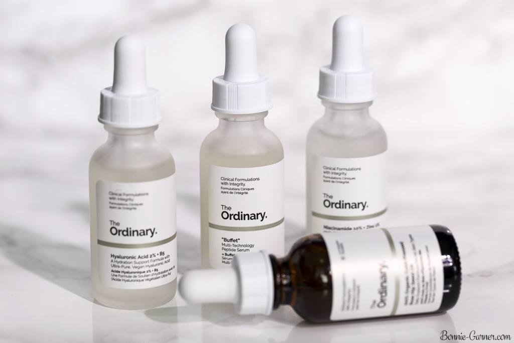 """The Ordinary: 100% Cold-Pressed Organic Rose Hip Seed Oil, Hyaluronic Acid 2% + B5, """"Buffet"""", Niacinamide 10% + Zinc"""
