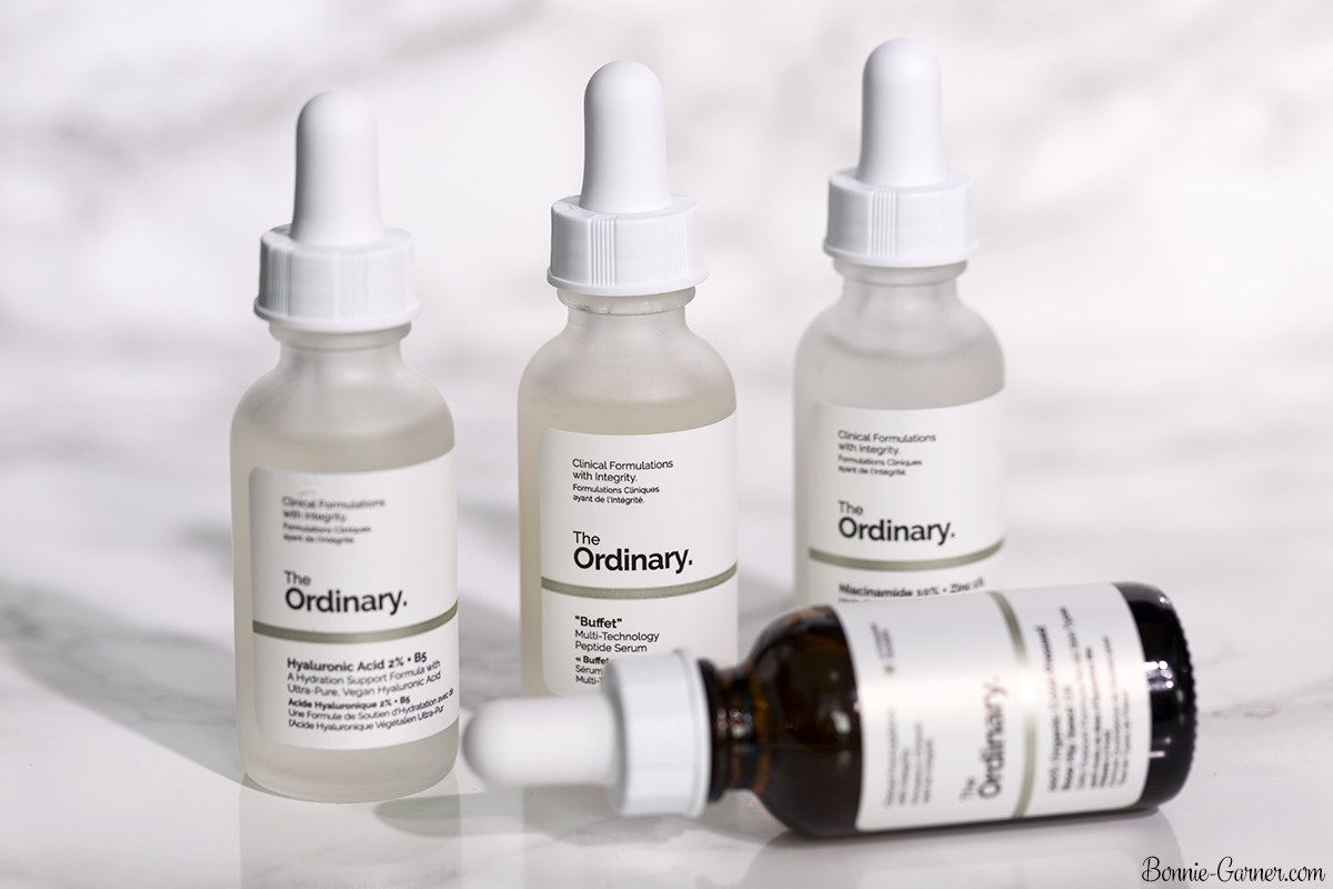 "The Ordinary: 100% Cold-Pressed Organic Rose Hip Seed Oil, Hyaluronic Acid 2% + B5, ""Buffet"", Niacinamide 10% + Zinc"
