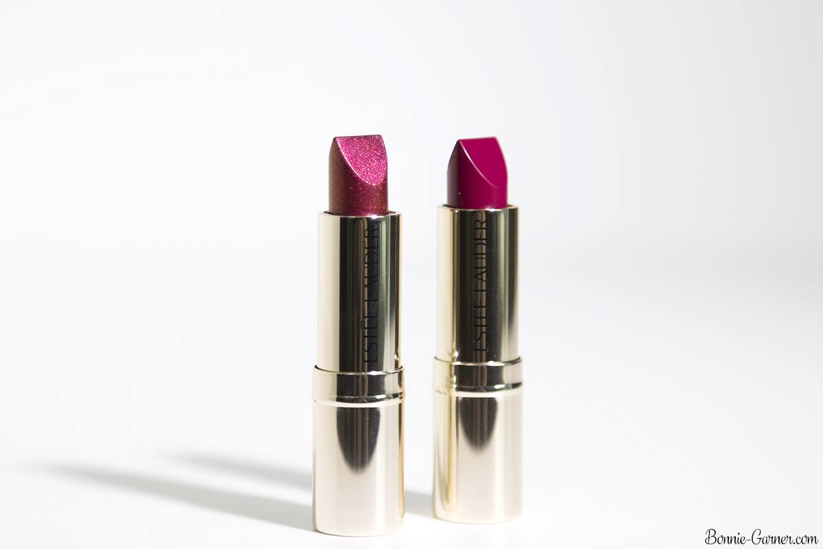 Estée Lauder Pure Color Love lipsticks: 230 Juiced Up, 370 Pocket Venus