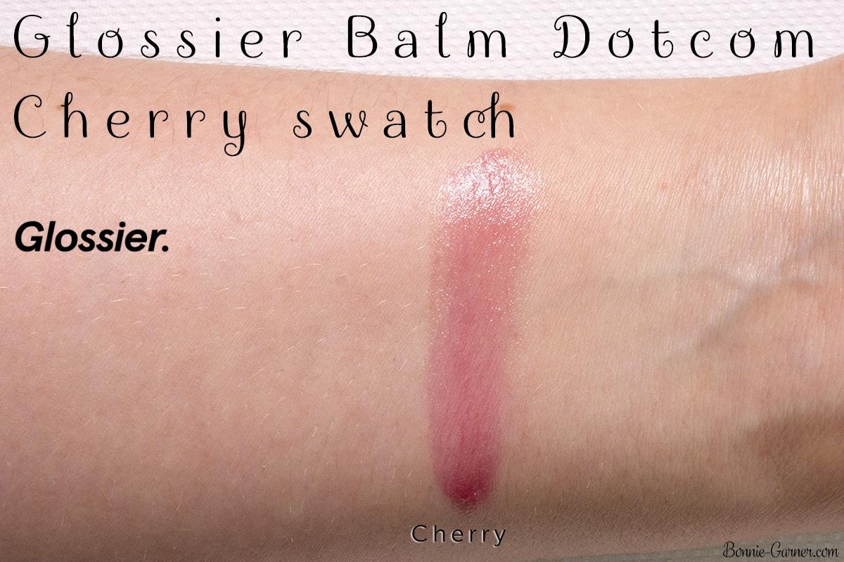 Glossier Balm Dotcom Cherry swatch