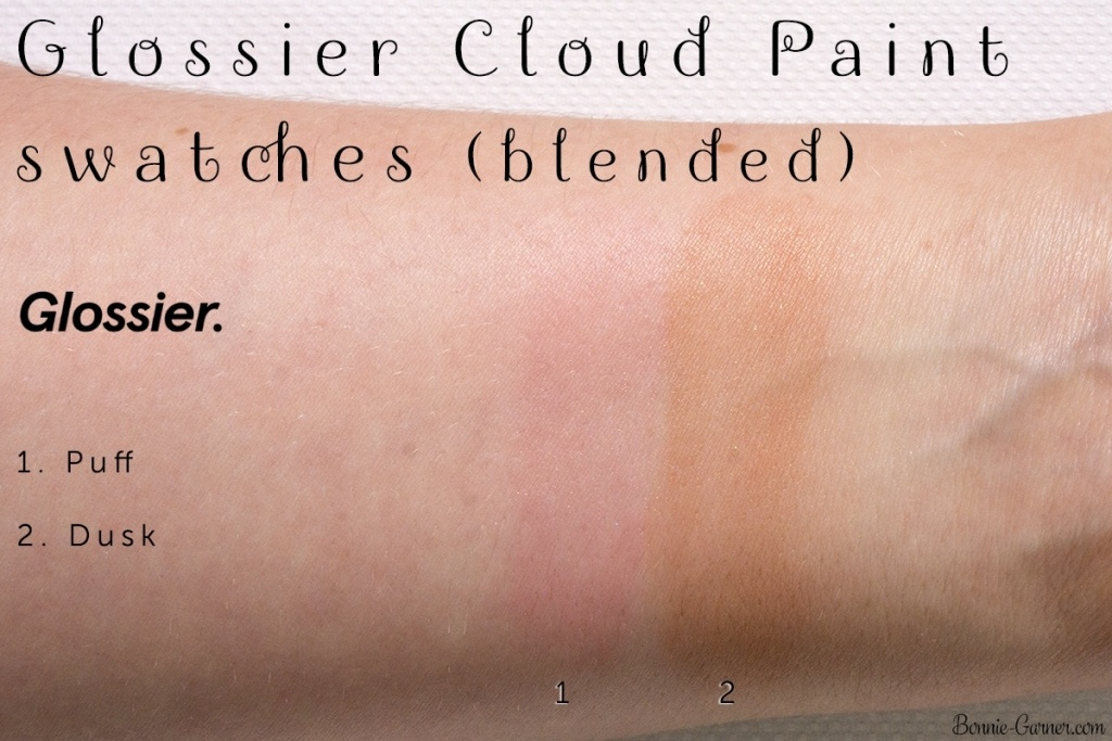 Glossier: Cloud Paint Dusk, Puff swatches