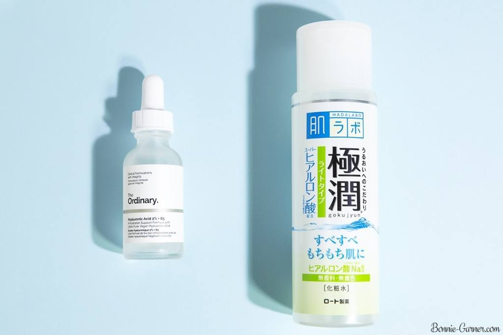 The Ordinary Hyaluronic Acid 2% + B5, Hada Labo Gokujyun Hyaluronic Acid Lotion