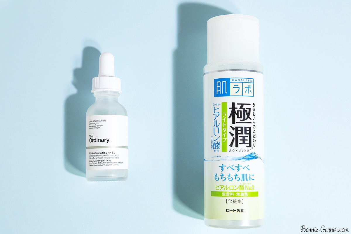 The Ordinary Hyaluronic Acid 2% + B5, Hada Labo Gokujyun Hyaluronic Acid Lotion