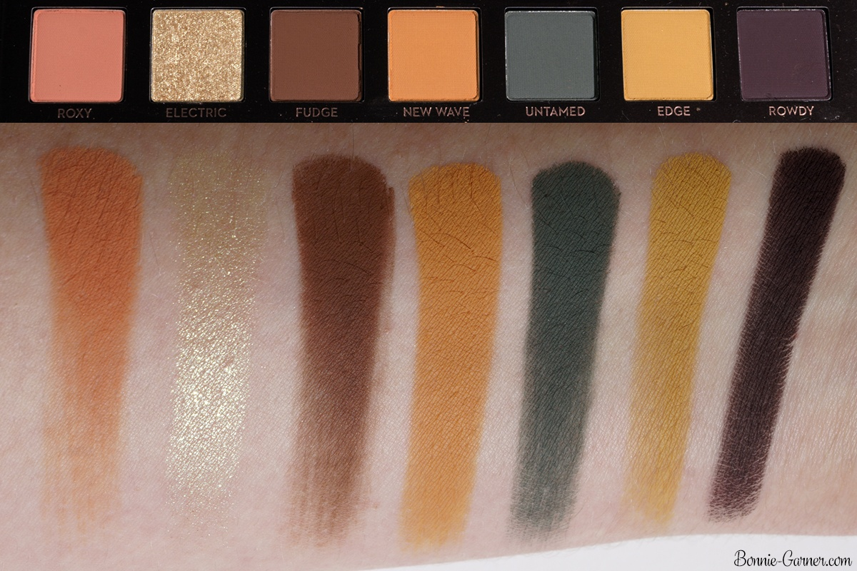 Anastasia Beverly Hills Subculture eyeshadow palette bottom row swatches