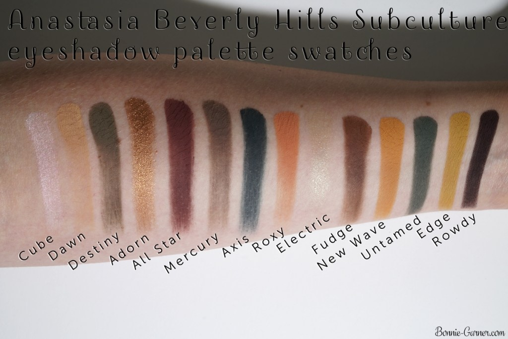 Anastasia Beverly Hills Subculture eyeshadow palette swatches