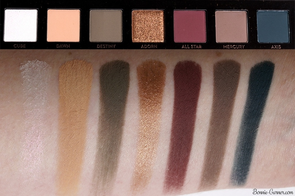 Anastasia Beverly Hills Subculture eyeshadow palette top row swatches