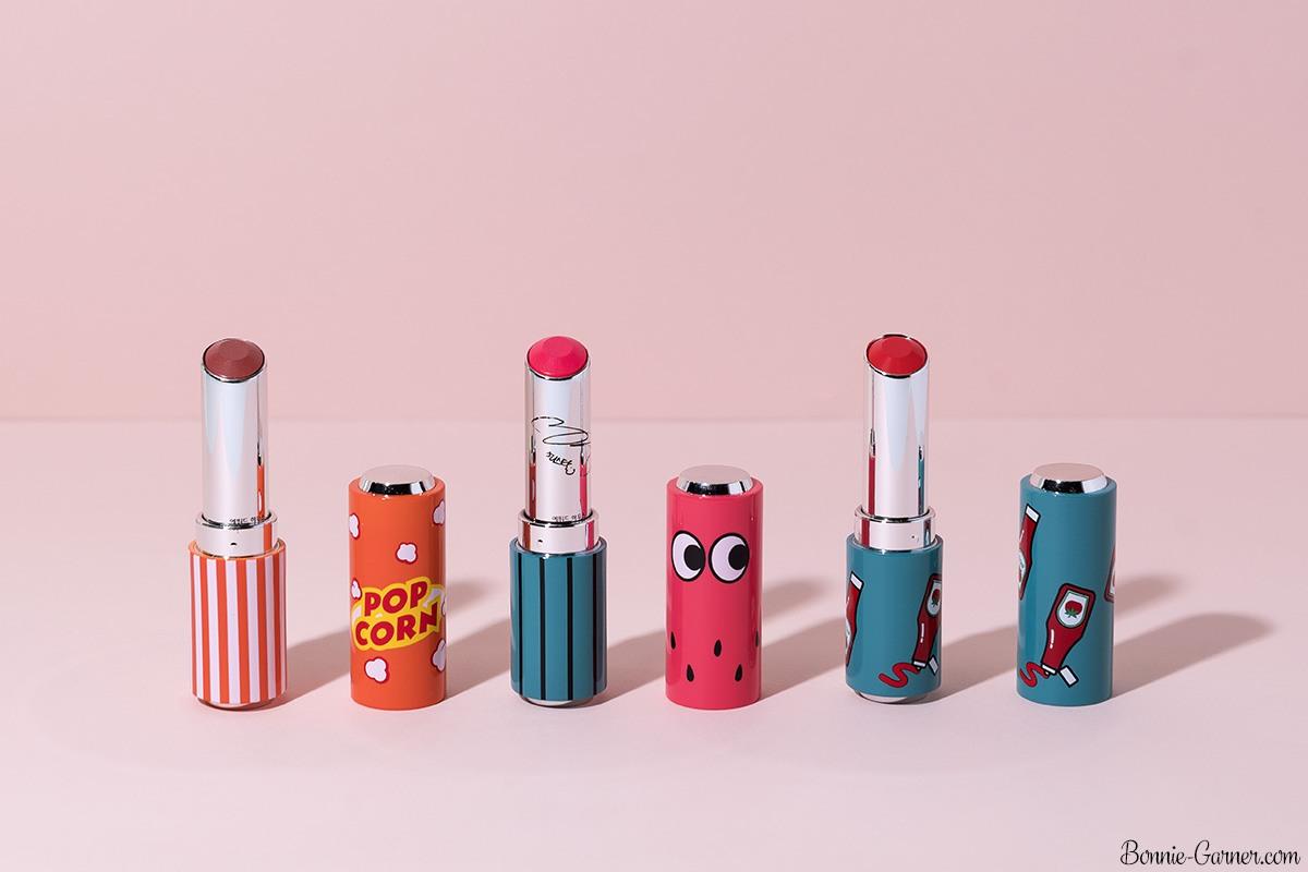 Etude House Glass Tinting Lips talk lipsticks BR401, PK003, RD301