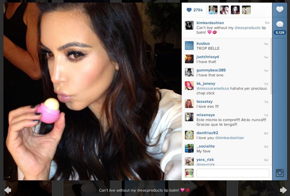 Eos Kim Kardashian lip balm