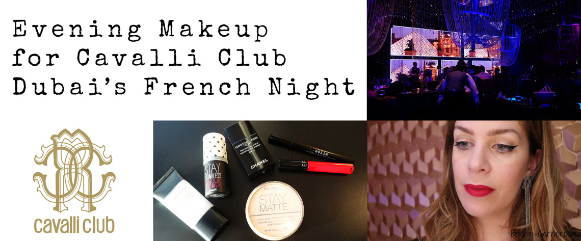 Evening Makeup for Cavalli Club Dubais French Night