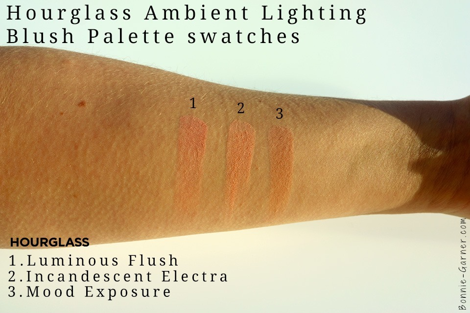 hourglass ambient lighting blush palette swatches