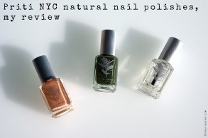 Priti NYC natural nail polishes, my review