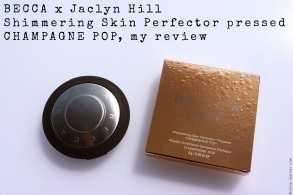 Becca x Jaclyn Hill Shimmering Skin Perfector Pressed Champagne Pop my review