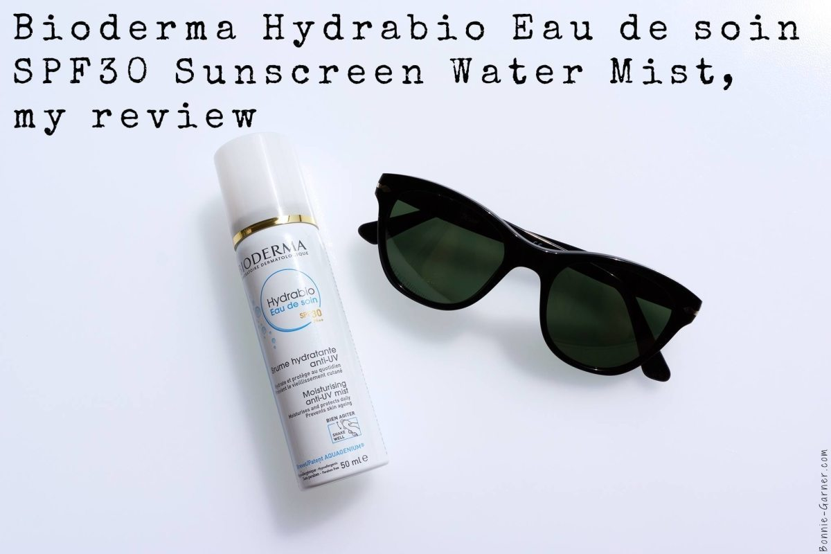 Bioderma Hydrabio Eau de soin SPF30 Sunscreen Water Mist, my review