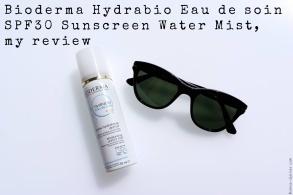 Bioderma Hydrabio Eau de soin SPF30 Sunscreen Water Mist, my review