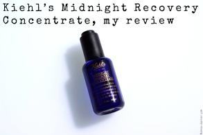 Kiehl's Midnight Recovery Concentrate, my review