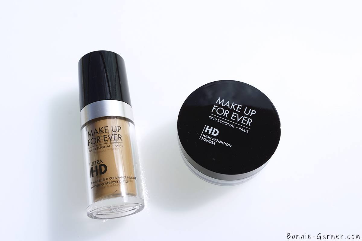 Make Up For Ever Ultra HD liquid foundation Y315, HD loose powder