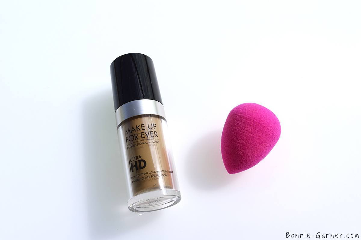 Make Up For Ever Ultra HD liquid foundation Y315 Beauty Blender