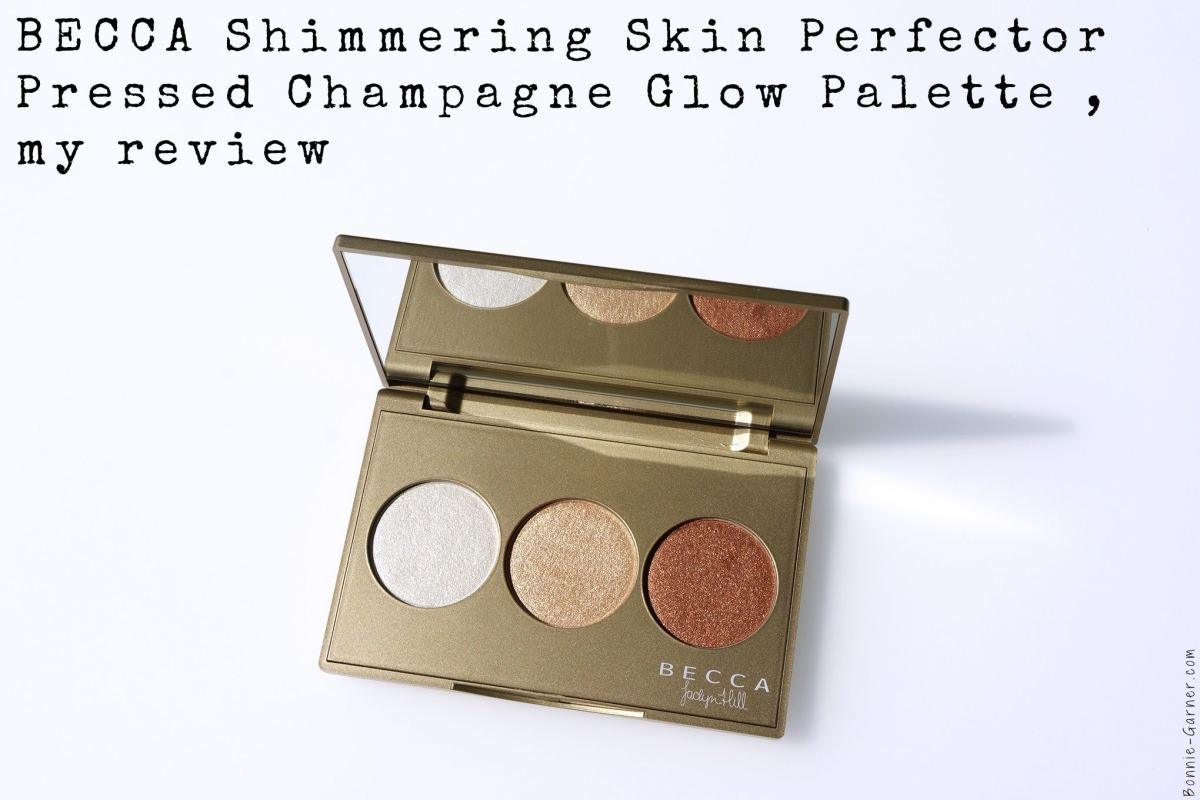 BECCA Shimmering Skin Perfector Pressed Champagne Glow palette, my review