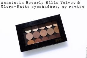 Anastasia Beverly Hills Velvet & Ultra-Matte eyeshadows, my review