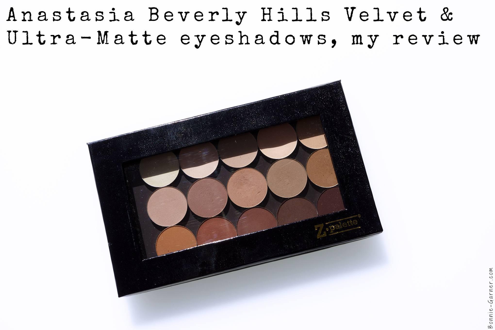 Anastasia Beverly Hills Velvet & Ultra-Matte eyeshadows, my review